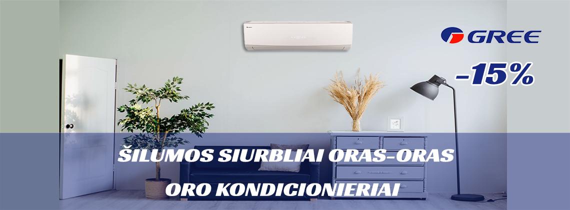 Gree oro kondicionieriai silumos siurbliai